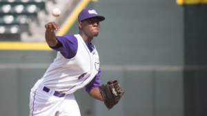Euclides Leyer tossed a scoreless inning of relief Sunday. (Jody Stewart/W-S Dash)