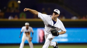 Big league rehabber Nate Jones worked a scoreless eighth inning in Friday's 4-2 loss. (Jody Stewart/W-S Dash)