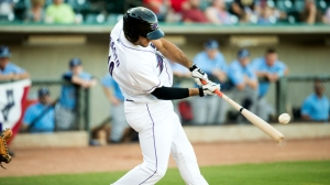 Nick Basto clubbed a two-run home run to bring the Dash within one in Saturday's contest. (Jody Stewart/W-S Dash)