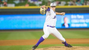 Brian Clark earned the win in relief in Sunday's win over Carolina. (Jody Stewart/W-S Dash)