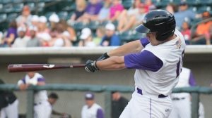 Nolan Earley smashed a bases-clearing double on Saturday. (Jody Stewart/W-S Dash)