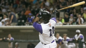 Keon Barnum's 64 RBIs rank in a tie for the fourth-most in the Carolina League. (Jody Stewart/W-S Dash)