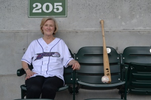 Debbie D. Harllee enjoyed an incredible experience...at a ballpark named after her for a day! (Will Marrs/W-S Dash)